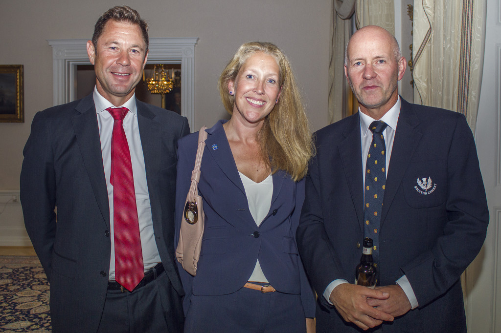 Sean Williams, Jessica Nilsson Williams Swedish Cricket Federation and Ian Ramage ampire mentor