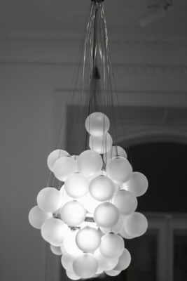 Lamp of spheres as seen at Studio B3