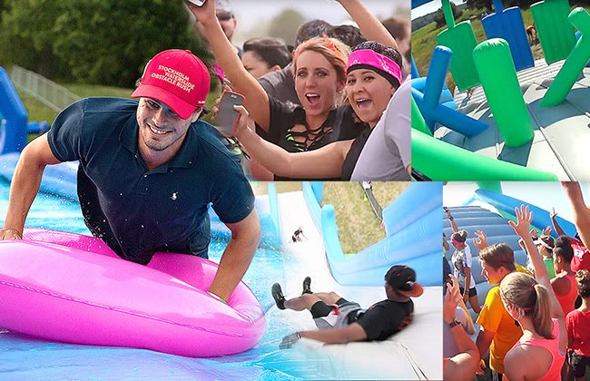 waterslide obstacle rush