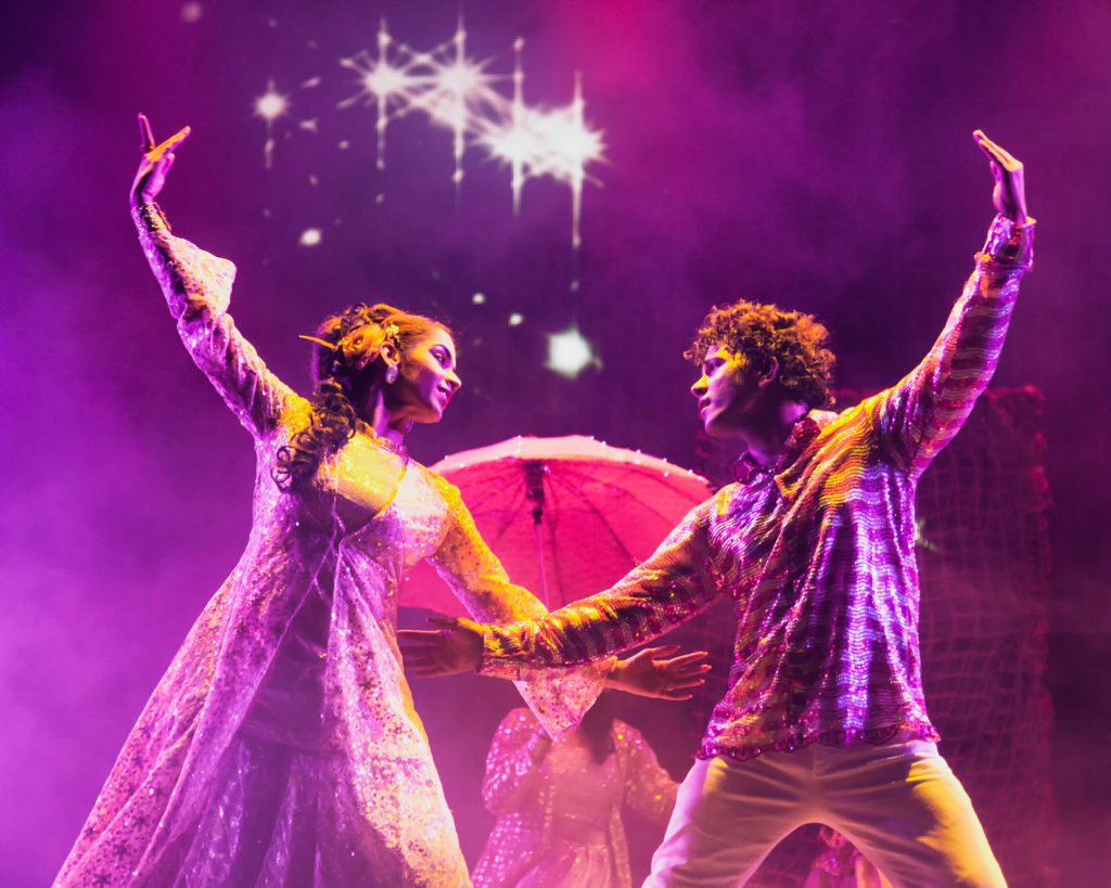 The leading pair of Love Story - a Bollywood Musical put on a wonderful show together with a large troupe of dancers, singers and musicians.
