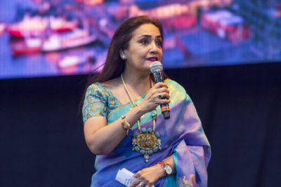 "Indian Ambassador Monika Kapil Mohta opened the the festival and spoke about India being ""a young nation with millenarian culture""."