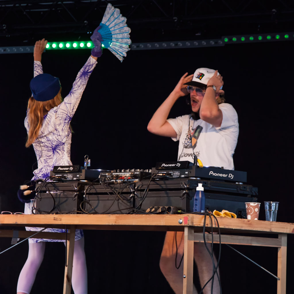 On Wednesday we caught the Finnish DJ Windows 95 Man putting on a Finnish Disco at the dance stage on Karl XII:s torg.
