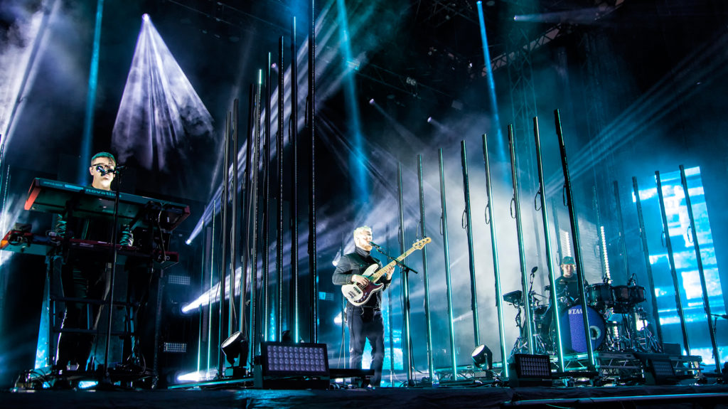 Alt-J brought a clever light set-up to go along with their distinctive sound
