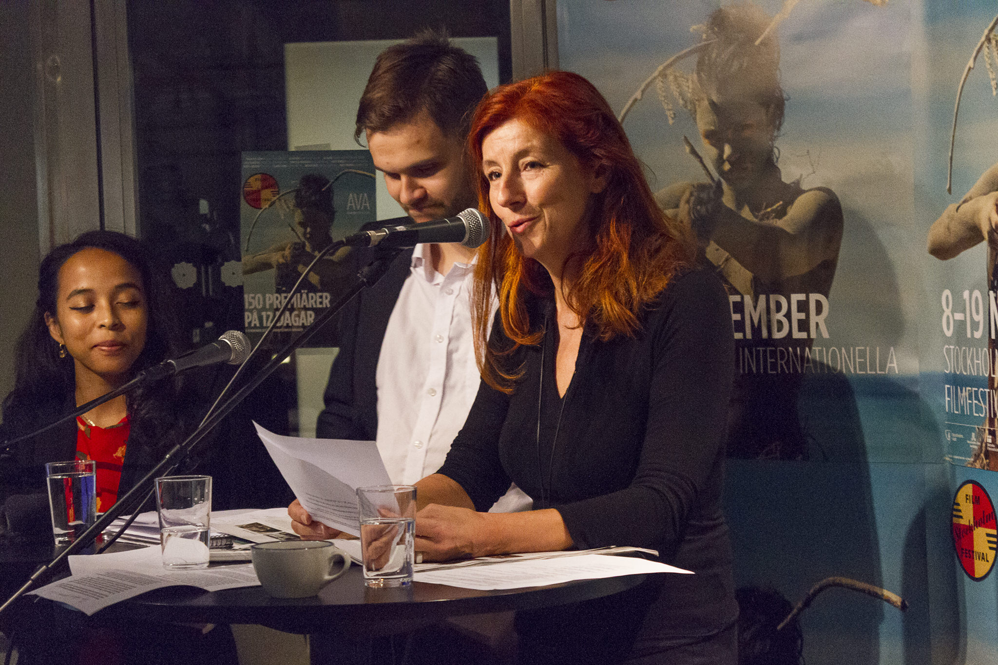 Git Scheynius on press conference at this years Stockholm Film Festival program release