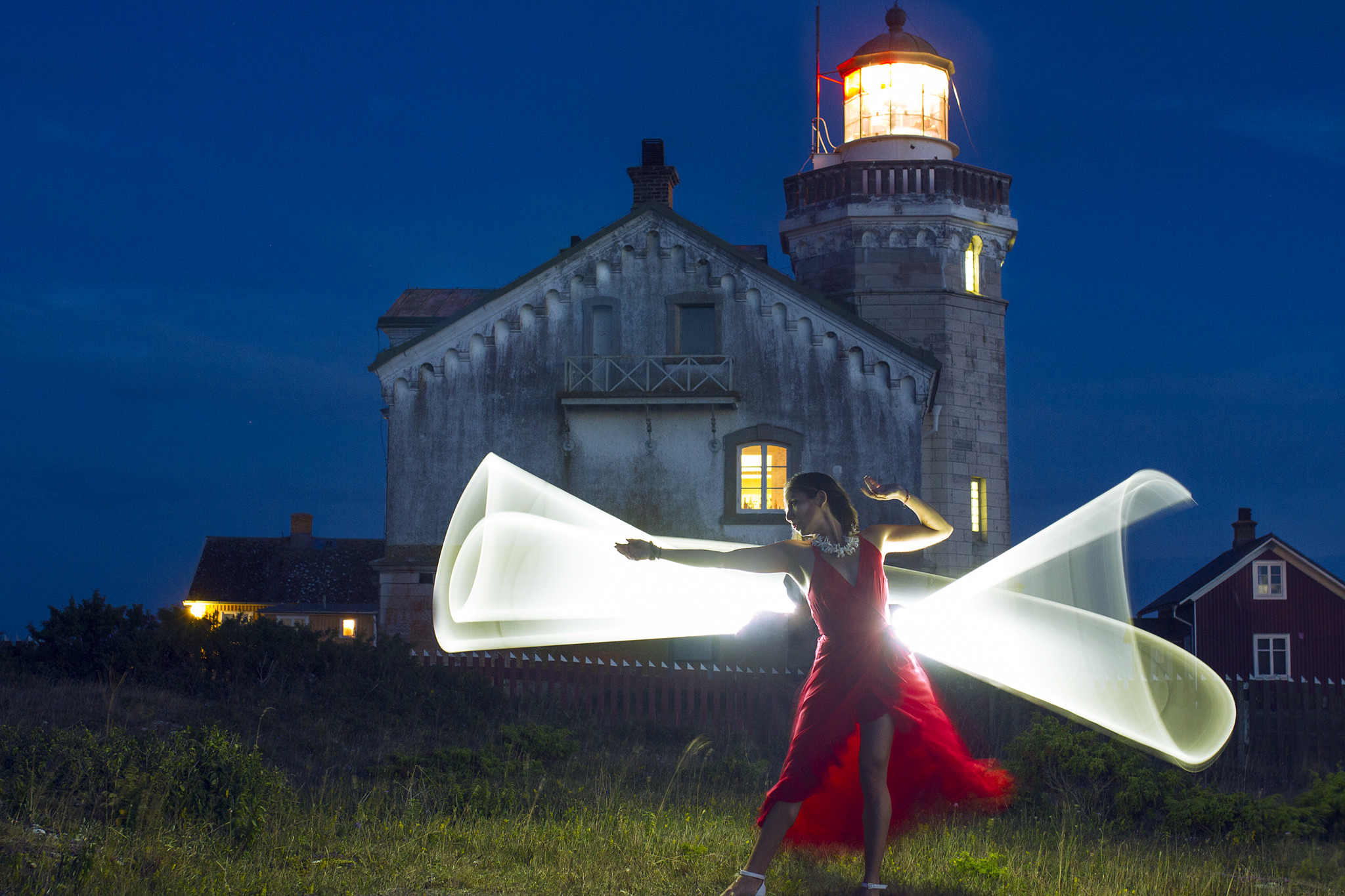 4th try at Light Painting in Stora Karlsö, Gotland