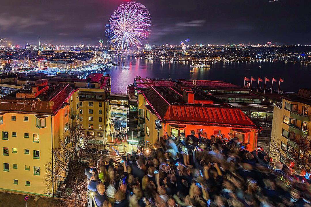 New Year's Eve celebration view from Södra Teatern. Photo by David Schmidt.